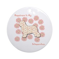 Schapendoes Happiness Ornament (Round)