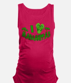 I Love Margaritas Maternity Tank Top