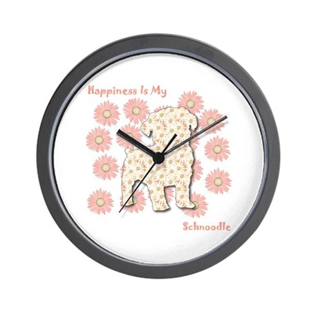 Schnoodle Happiness Wall Clock