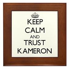 Keep Calm and TRUST Kameron Framed Tile