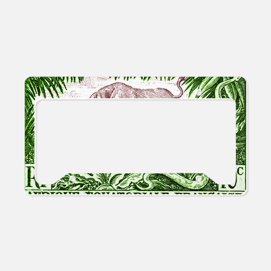 1947 French Equatorial Africa License Plate Holder