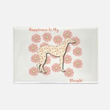 Sloughi Happiness Rectangle Magnet