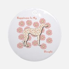 Sloughi Happiness Ornament (Round)