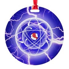 Carbon Atom and energy emission Ornament