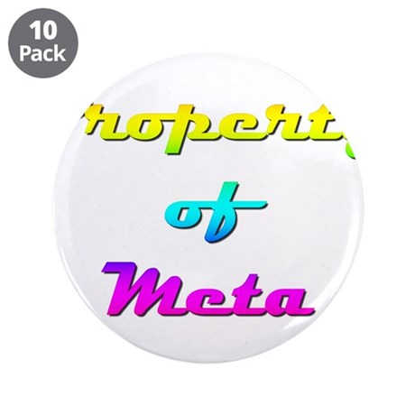 """Property Of Meta Female 3.5"""" Button (10 pack)"""