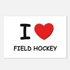 I love field hockey  Postcards (Package of 8)