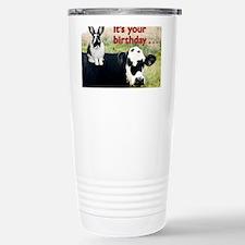 Bunny  Cow Birthday Car Stainless Steel Travel Mug