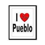 I Love Pueblo Framed Panel Print
