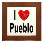 I Love Pueblo Framed Tile