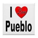 I Love Pueblo Tile Coaster