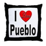 I Love Pueblo Throw Pillow