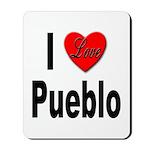 I Love Pueblo Mousepad