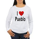 I Love Pueblo (Front) Women's Long Sleeve T-Shirt