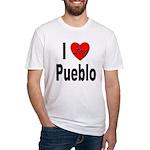 I Love Pueblo Fitted T-Shirt
