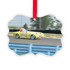 A British Racer At Speed Ornament