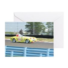 A British Racer At Speed Greeting Card