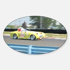 A British Racer At Speed Sticker (Oval)