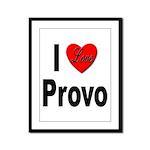 I Love Provo Framed Panel Print