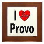 I Love Provo Framed Tile