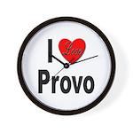 I Love Provo Wall Clock