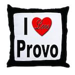 I Love Provo Throw Pillow