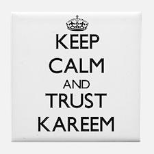Keep Calm and TRUST Kareem Tile Coaster
