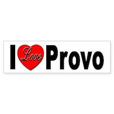 I Love Provo Bumper Bumper Sticker