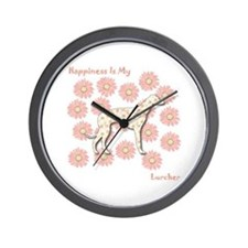 Lurcher Happiness Wall Clock