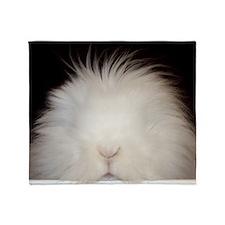 Bunny Card Throw Blanket