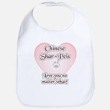 Shar Pei Love U Bib