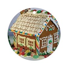 Gingerbread House Round Ornament
