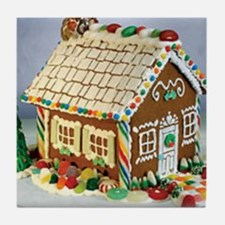 Gingerbread House Tile Coaster