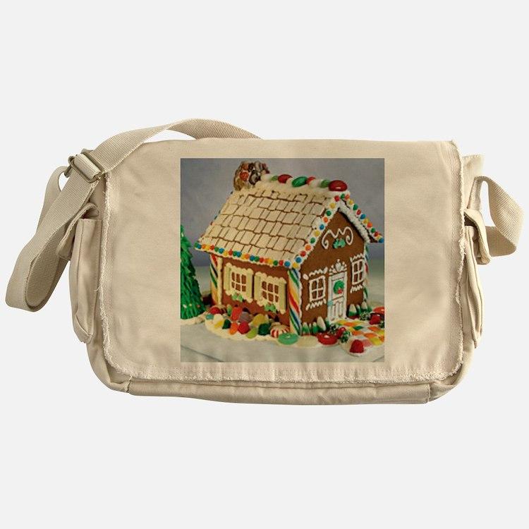 Gingerbread House Messenger Bag