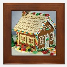 Gingerbread House Framed Tile