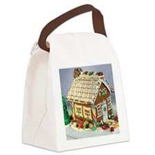 Gingerbread House Canvas Lunch Bag