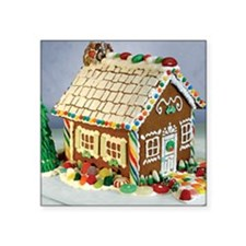 """Gingerbread House Square Sticker 3"""" x 3"""""""