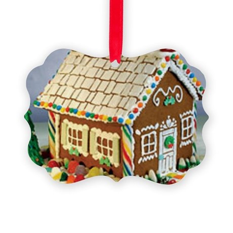 Gingerbread House Picture Ornament