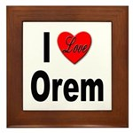 I Love Orem Framed Tile