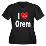 I Love Orem (Front) Women's Plus Size V-Neck Dark