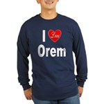 I Love Orem (Front) Long Sleeve Dark T-Shirt