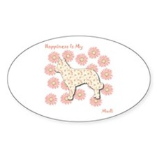 Mudi Happiness Oval Decal