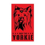 Obey the Yorkie! Rectangle Sticker