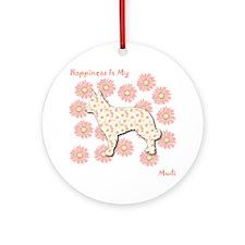 Mudi Happiness Ornament (Round)