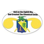 Oval Sticker Chemical