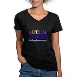 Autism mom Womens V-Neck T-shirts (Dark)