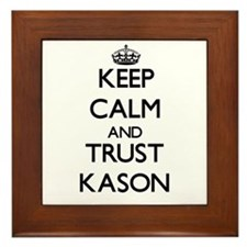 Keep Calm and TRUST Kason Framed Tile