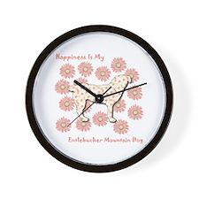 Entlebucher Happiness Wall Clock