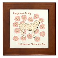 Entlebucher Happiness Framed Tile