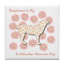 Entlebucher Happiness Tile Coaster