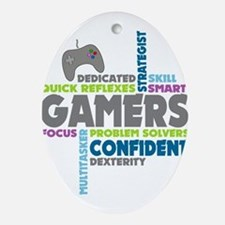 Gamers Ornament (Oval)